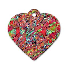 Expressive Abstract Grunge Dog Tag Heart (Two Sides)