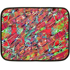 Expressive Abstract Grunge Double Sided Fleece Blanket (Mini)