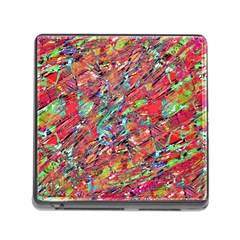 Expressive Abstract Grunge Memory Card Reader (square)