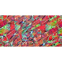 Expressive Abstract Grunge YOU ARE INVITED 3D Greeting Card (8x4)