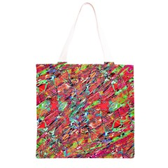 Expressive Abstract Grunge Grocery Light Tote Bag