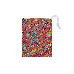 Expressive Abstract Grunge Drawstring Pouches (XS)