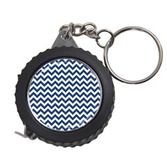 Navy Blue & White Zigzag Pattern Measuring Tape