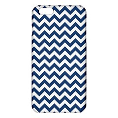 Navy Blue & White Zigzag Pattern iPhone 6 Plus/6S Plus TPU Case
