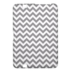 Medium Grey & White Zigzag Pattern Kindle Fire HD 8.9  Hardshell Case