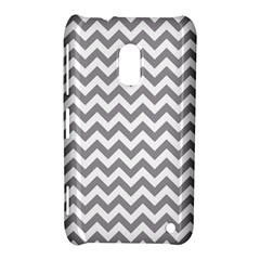 Medium Grey & White Zigzag Pattern Nokia Lumia 620 Hardshell Case
