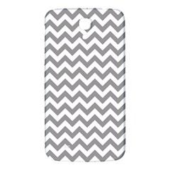 Medium Grey & White Zigzag Pattern Samsung Galaxy Mega I9200 Hardshell Back Case