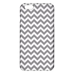 Medium Grey & White Zigzag Pattern iPhone 6 Plus/6S Plus TPU Case
