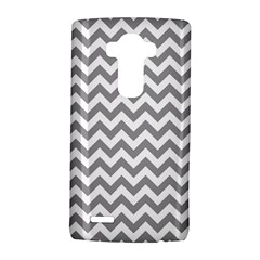 Medium Grey & White Zigzag Pattern LG G4 Hardshell Case