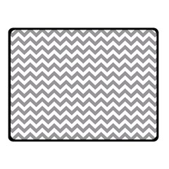 Medium Grey & White Zigzag Pattern Double Sided Fleece Blanket (Small)