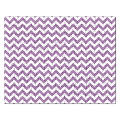 Lilac Purple & White Zigzag Pattern Jigsaw Puzzle (Rectangular)