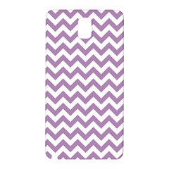 Lilac Purple & White Zigzag Pattern Samsung Galaxy Note 3 N9005 Hardshell Back Case