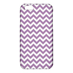 Lilac Purple & White Zigzag Pattern iPhone 6/6S TPU Case