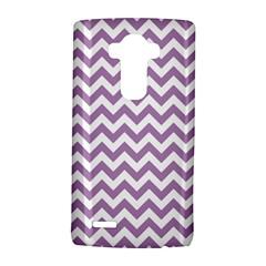 Lilac Purple & White Zigzag Pattern LG G4 Hardshell Case