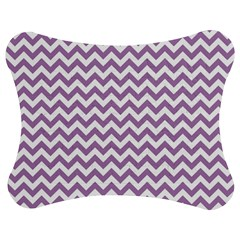 Lilac Purple & White Zigzag Pattern Jigsaw Puzzle Photo Stand (bow)