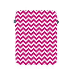 Hot Pink & White Zigzag Pattern Apple iPad 2/3/4 Protective Soft Case