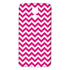 Hot Pink & White Zigzag Pattern Samsung Galaxy S5 Back Case (White)