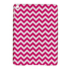 Hot Pink & White Zigzag Pattern Apple iPad Air 2 Hardshell Case