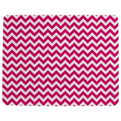 Hot Pink & White Zigzag Pattern Jigsaw Puzzle Photo Stand (Rectangular)