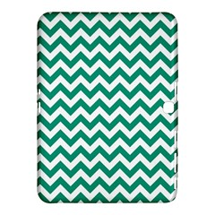 Emerald Green & White Zigzag Pattern Samsung Galaxy Tab 4 (10.1 ) Hardshell Case