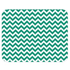 Emerald Green & White Zigzag Pattern Double Sided Flano Blanket (Medium)