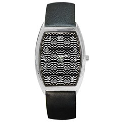 Modern Zebra Pattern Barrel Style Metal Watch