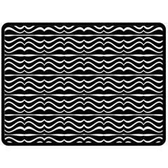 Modern Zebra Pattern Double Sided Fleece Blanket (Large)