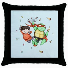 Mike & Tum Tum Throw Pillow Case (Black)