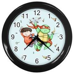 Mike & Tum Tum Wall Clocks (Black)