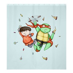 Mike & Tum Tum Shower Curtain 66  x 72  (Large)