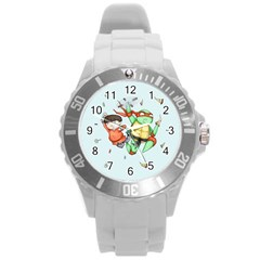 Mike & Tum Tum Round Plastic Sport Watch (L)