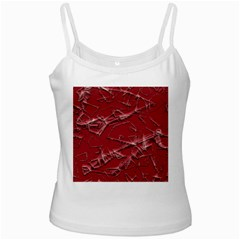 Thorny Abstract,red White Spaghetti Tank