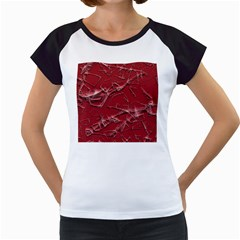 Thorny Abstract,red Women s Cap Sleeve T