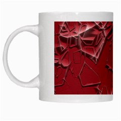 Thorny Abstract,red White Mugs