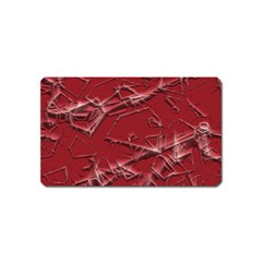 Thorny Abstract,red Magnet (Name Card)