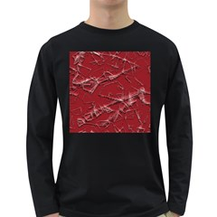 Thorny Abstract,red Long Sleeve Dark T-Shirts