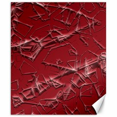 Thorny Abstract,red Canvas 20  x 24