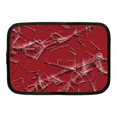 Thorny Abstract,red Netbook Case (Medium)