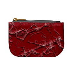 Thorny Abstract,red Mini Coin Purses