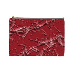 Thorny Abstract,red Cosmetic Bag (Large)