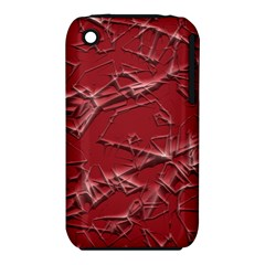 Thorny Abstract,red Apple iPhone 3G/3GS Hardshell Case (PC+Silicone)