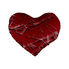 Thorny Abstract,red Standard 16  Premium Heart Shape Cushions