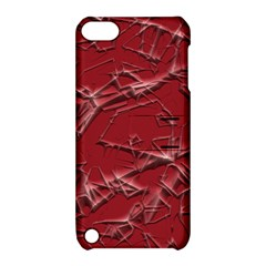 Thorny Abstract,red Apple iPod Touch 5 Hardshell Case with Stand