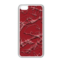 Thorny Abstract,red Apple iPhone 5C Seamless Case (White)