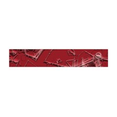 Thorny Abstract,red Flano Scarf (Mini)