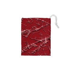 Thorny Abstract,red Drawstring Pouches (xs)