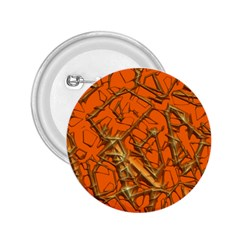 Thorny Abstract, Orange 2.25  Buttons