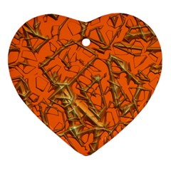 Thorny Abstract, Orange Ornament (Heart)