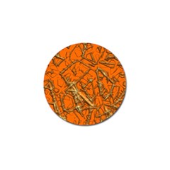 Thorny Abstract, Orange Golf Ball Marker (4 pack)
