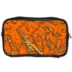 Thorny Abstract, Orange Toiletries Bags 2-Side